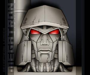 TF:fanart - Megatron mug shot by juzo-kun