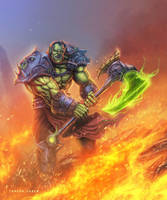 Orc Warrior - WOW (VIDEO PROCESS AND TUTORIAL) by TSABER