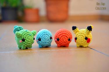 Pokemon starters by MissBajoCollection