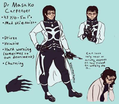 Dr Masako Carpenter by Rebelmechwolf