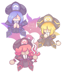 the three babs (kirby doodle #12) by StarlightJuice