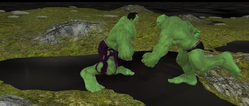 Hulk Vs. Abomination by scholarwarrior-lad