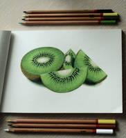 kiwi fruit by MarjoryBurnt