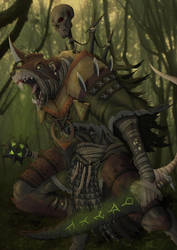 Skaven Warrior by kastart