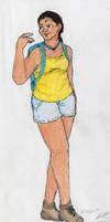 Hiking Along by GryGirl8