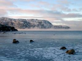 Morning mist on the ocean 3 by LucieG-Stock