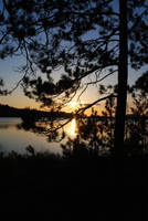 sunset by the lake by LucieG-Stock