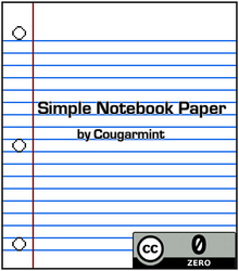 Simple Notebook Paper Pack by Cougarmint