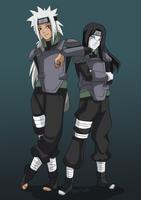 [C] Jiraiya and Orochimaru by lufidelis