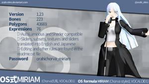 [MMD] OS formula MIRIAM (Chorva style) [DL link] by Orahi-shiro