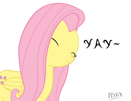 Fluttershy - Glad by Nyax