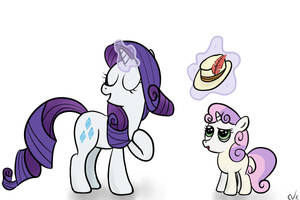 Pork Pie Hat - Rarity and Sweetie Belle by Nyax