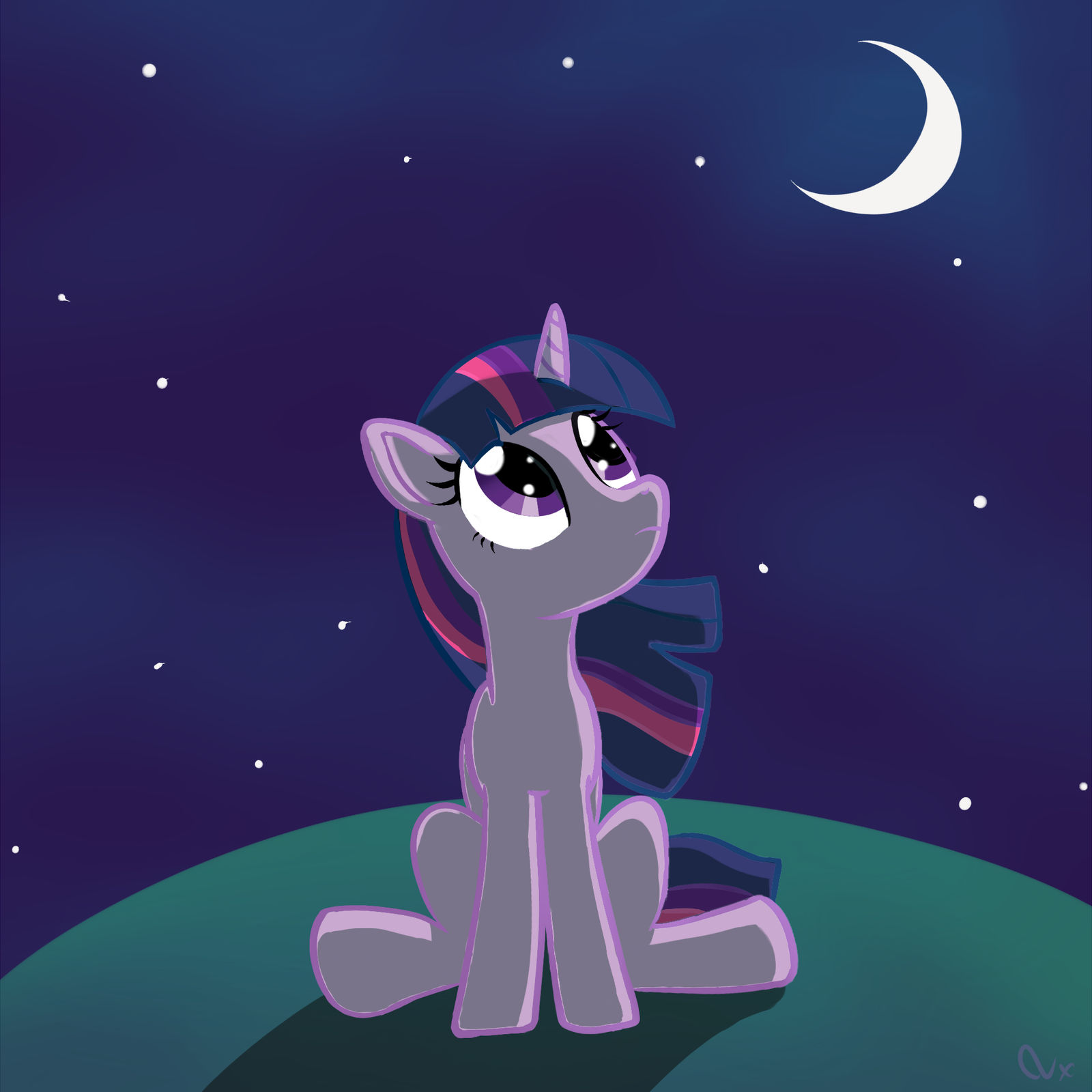 Twilight and the night by Nyax
