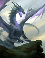 Doodle purple dragon :) by Danielllee