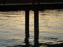 Pier III, sunset Lake Neusiedl by glanthor-reviol