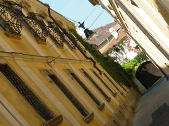 Rotated alley, Gyor by glanthor-reviol