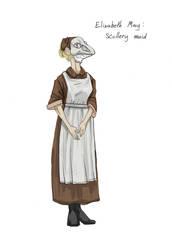 Elizabeth May-scullery maid by Allaphaidole