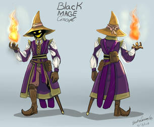 FF9 Black Mage dude concept (villain?) by Allaphaidole