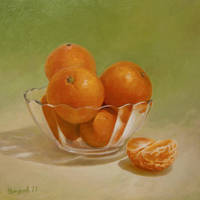 Still life with tangerines by VitUrzh