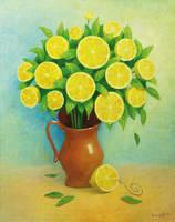 lemon flowers by VitUrzh