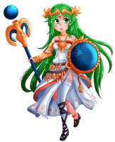Palutena // SMASH BROTHERS by Selaphi