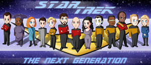 Star Trek TNG Chibi Crew by P-JoArt