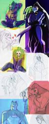 Batman Joker random dump by P-JoArt