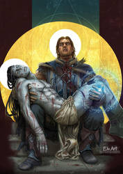 Shadow of Mordor Pieta by P-JoArt