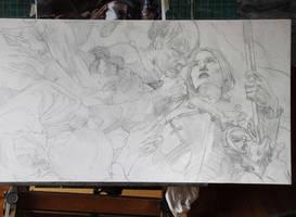 Joan of Arc - preliminary Drawing by DonatoArts