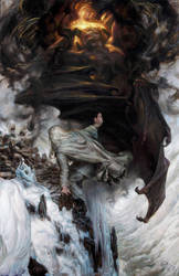 'I threw down my enemy' - Gandalf on Zirak-zigil by DonatoArts