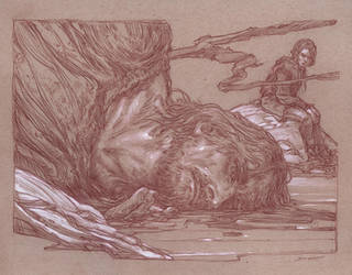 ASoIaF - Arya and the Hound - ColdHearts by DonatoArts