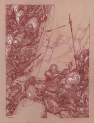Gimli at Helm's Deep by DonatoArts