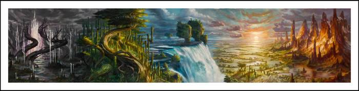Magic Five Lands Panorama by DonatoArts