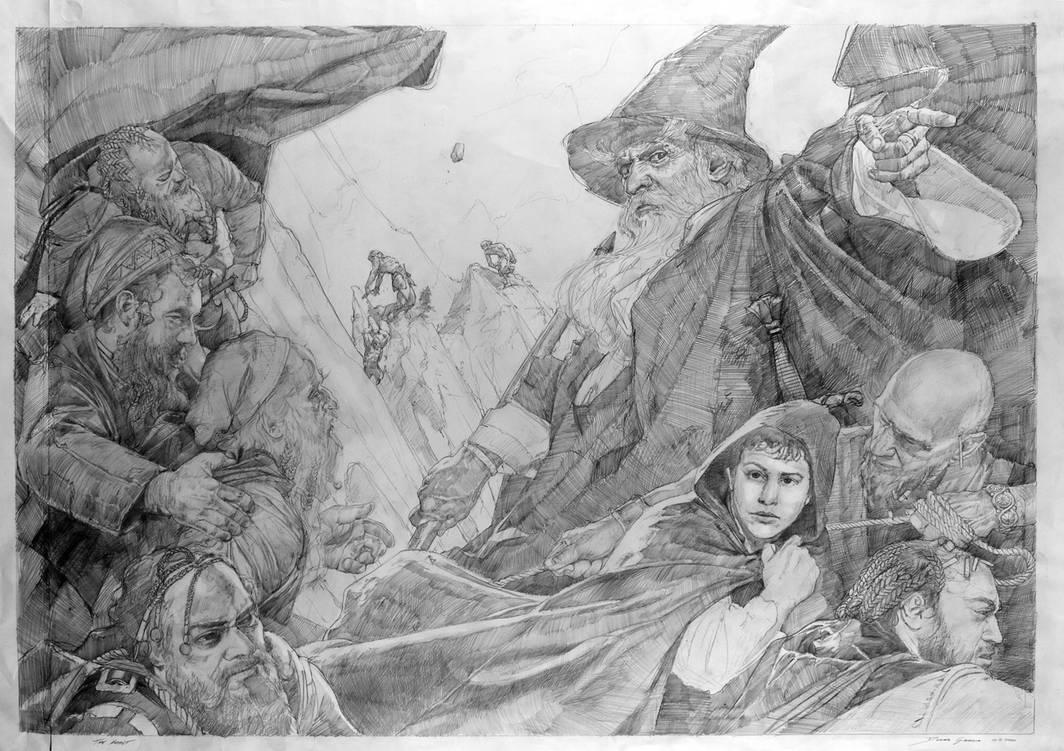 TheHobbit: Expulsiuon -preliminary drawing by DonatoArts