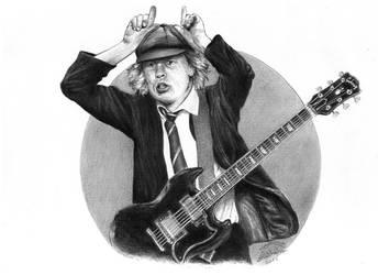 Angus Young by AminVakili