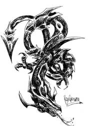 .Rayquaza. by sheher-dragin