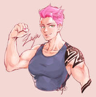 OW - Zarya by blackteakimi