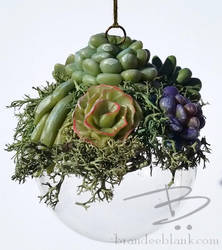 Faux Succulents Ornament by TinfoilHalo