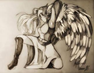 Winged Elf Lathla S. by DarkStormSeeker