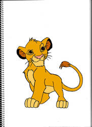 Simba colored by Pepples93