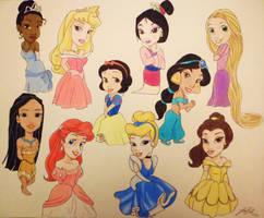 Disney Princesses by jaZzLIn3egurll