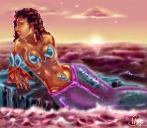 Red Mermaid by UDeeN