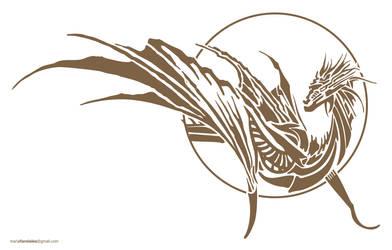 Dragon Tattoo Gold by UDeeN