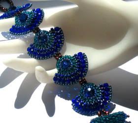 Peacock Bracelet in Jewel Tone by MyFairLadyVT4