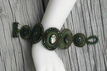 Abalone Green Bracelet by MyFairLadyVT4