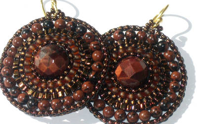 Mahogany Doily Earrings by MyFairLadyVT4