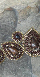Bronzite Paisley Bracelet by MyFairLadyVT4