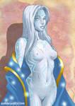 Amelia undress by Pablocomics