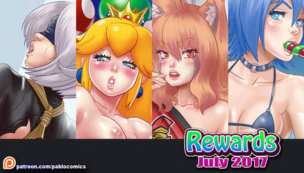 Rewards July on Patreon by Pablocomics