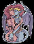 Demona love colored by D3m0n4 by Pablocomics